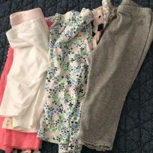 Ten Pairs of Baby Leggings-6 months